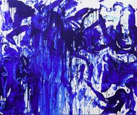 Double Fly Klein Blue 4 by Double Fly Art Center contemporary artwork painting