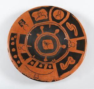 Têtes de taureau, Motif de décoration (au verso) by Pablo Picasso contemporary artwork