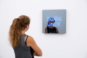 BREATHE WITH ME (handwritten) by Jeppe Hein contemporary artwork