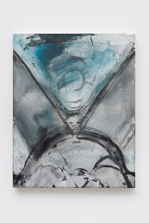Untitled (Birthing Mother Earth) by Luchita Hurtado contemporary artwork painting, drawing