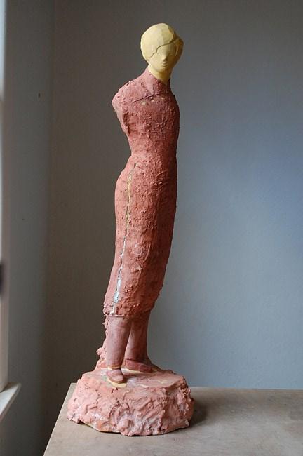 Woman with Jade Brooch by Linda Marrinon contemporary artwork