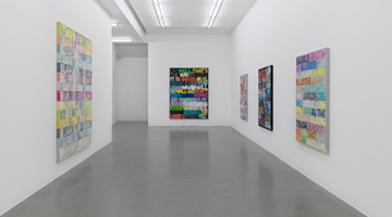 Contemporary art exhibition, Mel Bochner, GOING OUT OF BUSINESS! (and other recent paintings on velvet)  at Simon Lee Gallery, London