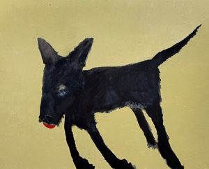 Black Dog #2 by Sally Bourke contemporary artwork