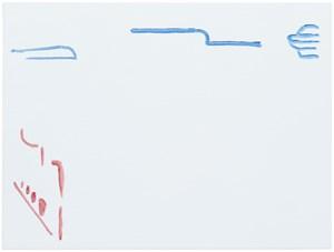 ohne Titel (Wirklichkeit erschlägt Kunst) 7 by Michael Krebber contemporary artwork