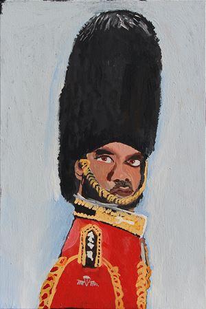 The Royal Tour (Self Portrait 1) by Vincent Namatjira contemporary artwork