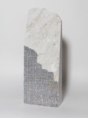 Marmo verticale [Vertical marble] by Greta Schödl contemporary artwork