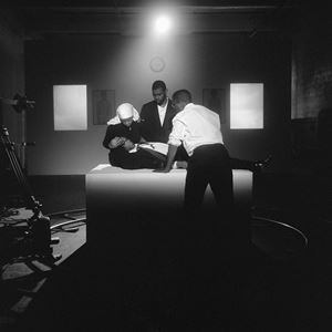 The Assassination of Medgar, Malcolm and Martin by Carrie Mae Weems contemporary artwork