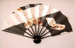 Magnolia and lane edge (Folding Fan) by Taro Yamamoto contemporary artwork