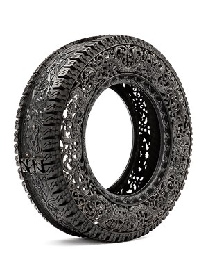 Untitled (Car Tyre) by Wim Delvoye contemporary artwork