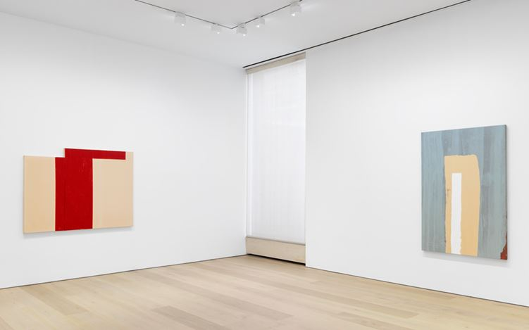 Exhibition view: Al Taylor, Early Paintings, David Zwirner, 20th Street,New York (24 February–15 April 2017). Courtesy David Zwirner, New York.