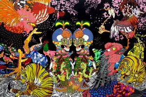 Jakuchu - Magnificent Flowers and Birds by Keiichi Tanaami contemporary artwork