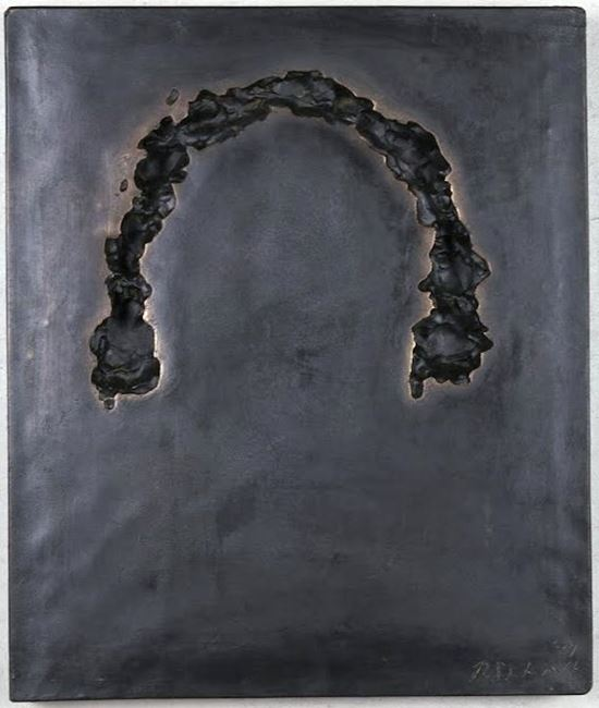 Phase of Nothingness-Black No. 18 (A) by Sekine Nobuo contemporary artwork