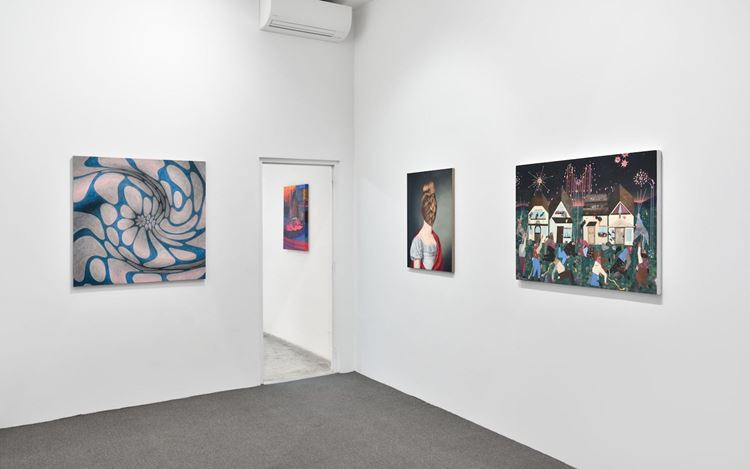 Exhibition view: Group Exhibition, Chorus, Almine Rech, Paris (12 October–16 November 2019). Courtesy  the Artist and Almine Rech. Photo: Rebecca Fanuele.