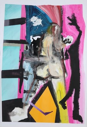 Ein Gerücht Namens Tod (A Rumor Called Death) by David Lehmann contemporary artwork painting, works on paper, drawing