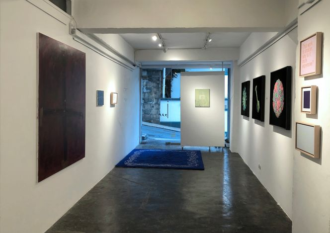 Exhibition view: David Boyce & Hiu Tung Lau,A Cow's Head And A Horse's Jaw,Karin Weber Gallery, Hong Kong (15 June–24 July 2021). CourtesyKarin Weber Gallery.