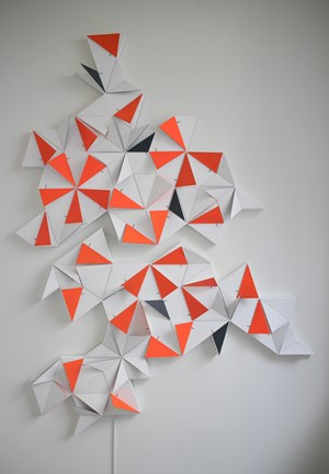 Origami Penrose 71 x 1 part A + B by LAb[au] contemporary artwork