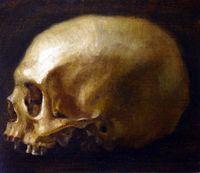 Skull by UBALDO GANDOLFI contemporary artwork painting, works on paper