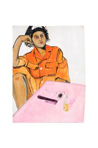 Prête by Neïla Czermak Ichti contemporary artwork painting, works on paper