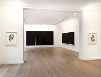 Exhibition view: Richard Serra,Double Rift, Galerie Lelong & Co., Paris(15 March–18 May 2018). Courtesy Galerie Lelong & Co.