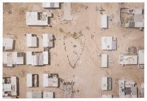 Migrants, Coeur, Quadrichromie, Jordanie by JR contemporary artwork