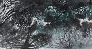 The Clear Stream Calls to the Green Mountain 清泉呼青山 by Shen Aiqi contemporary artwork
