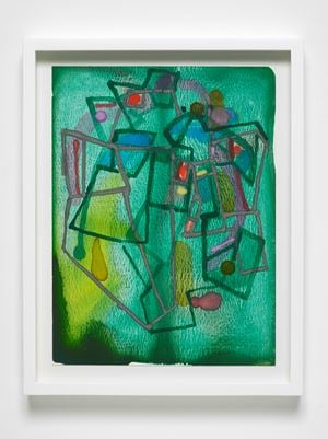 Green and machine 9 by Christina Mackie contemporary artwork