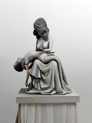 Pieta 1: Playing Dead by Cathie Pilkington contemporary artwork