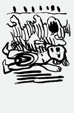 Serpent glacé by Pierre Alechinsky and Karel Appel contemporary artwork