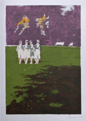 Schwestern im Park by Helena Parada Kim contemporary artwork