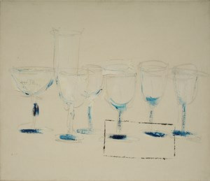 Goblets (Glass Cabinet next to Dining Table) 《高腳杯(餐桌旁杯櫃)》 by Yeh Shih-Chiang contemporary artwork