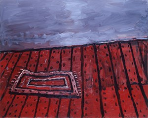 Rug on Floor by Philip Guston contemporary artwork