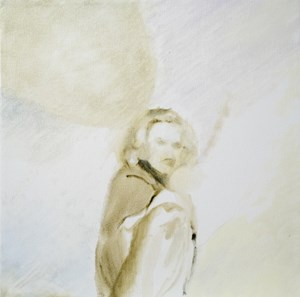 Untitled (Woman turning her head) by Summer Mann contemporary artwork
