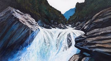 Contemporary art exhibition, Neil Frazer, Falling Water at Martin Browne Contemporary, Sydney