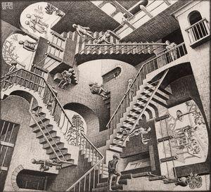 Relativity by M.C. Escher contemporary artwork print