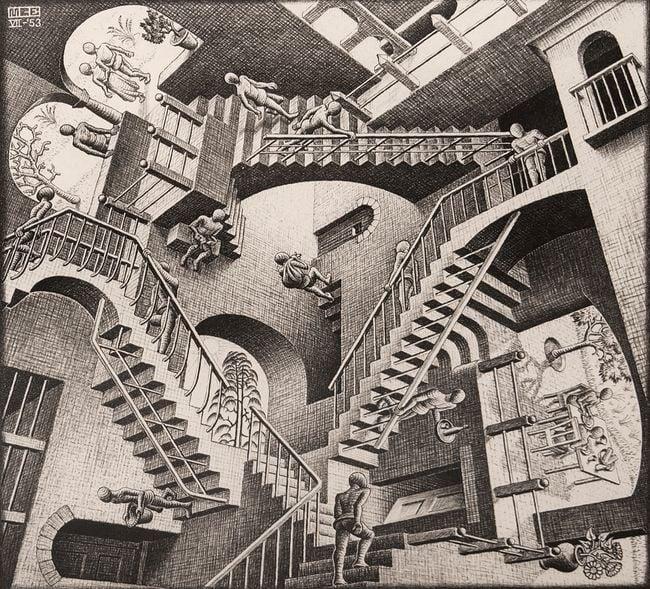 Relativity by M.C. Escher contemporary artwork