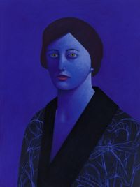 Blue Portrait by Nicolas Party contemporary artwork drawing