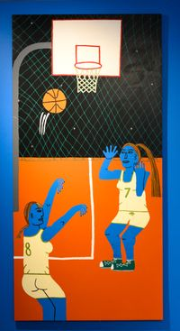 Basketball by Claudia Kogachi contemporary artwork painting, works on paper