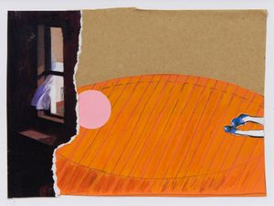 Diane Arbus by Dexter Dalwood contemporary artwork
