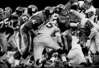 N.Y. Giants vs. Pittsburgh Steelers, Bronx, NY by Walter Iooss Jr contemporary artwork photography, print