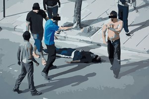 Street Fight 1 by Christopher Langton contemporary artwork