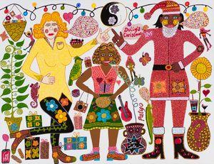 Dolly's Christmas by Kaylene Whiskey contemporary artwork