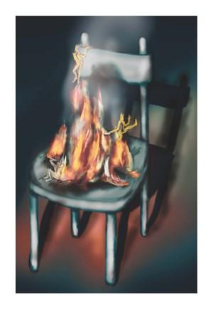 The hot seat by Louisa Gagliardi contemporary artwork