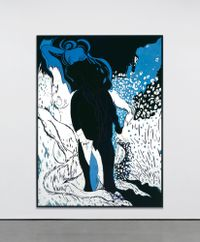Saint Lucian Blue Two by Chris Ofili contemporary artwork painting