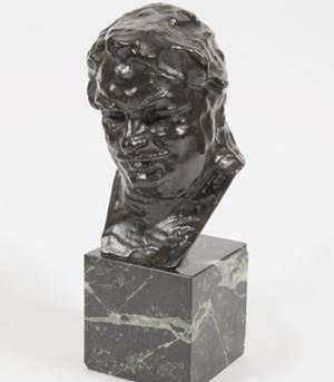 Balzac, étude C (buste), 3ème version, petit modèle by Auguste Rodin contemporary artwork