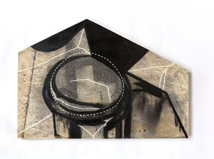 This house ties its ropes tight by Radhika Khimji contemporary artwork painting, works on paper