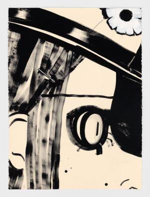Mouchette by Ellen Berkenblit contemporary artwork drawing