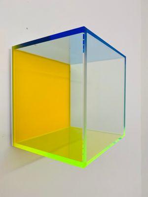 Colormirror rainbow satin orange Milan by Regine Schumann contemporary artwork