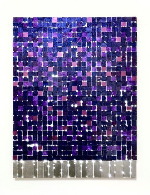 Purple Grid by Katsumi Hayakawa contemporary artwork