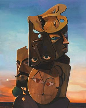 SALUT, SELF-PORTRAITS #3 by Cai Zebin contemporary artwork