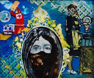 Der Maskenball by Wolf Hamm contemporary artwork